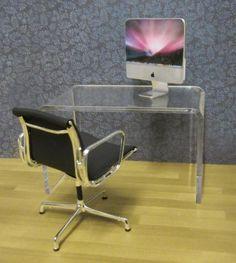 Clear acrylic minimalist desk | ELF Miniatures
