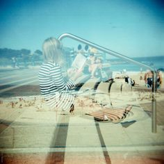 stairs | seaside | double exposure