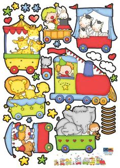 Amazon.com: Children's Nursery Room Wall Decal - Baby Circus: Baby
