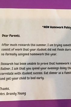 This Teacher's New Homework Policy Is Going Viral For All of the Right Reasons