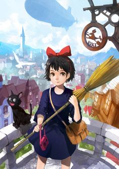 Kiki Delivery Service by alchemaniac on deviantART Studio ghibli,kiki's delivery service,hayao miyazaki Hayao Miyazaki, Kiki Delivery, Kiki's Delivery Service, Studio Ghibli Art, Studio Ghibli Movies, Totoro Tumblr, Film Animation Japonais, Personajes Studio Ghibli, Comics Anime