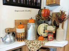 Fall Vintage Kitchen Vignette