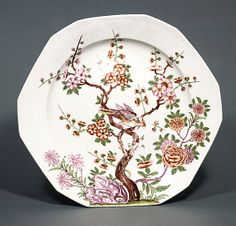 12 sided Dish, 1722-23. Vienna - Hard-paste porcelain.