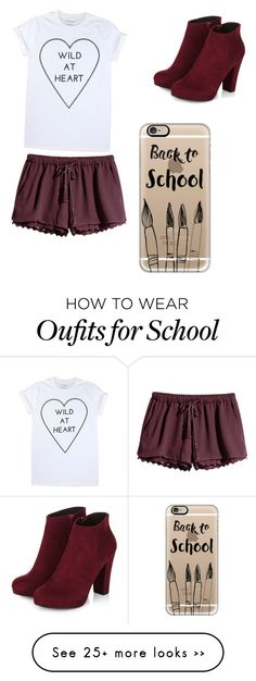"""""""Back to school"""" by maggiearnoldma on Polyvore featuring H&M and Casetify"""