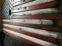 Wooden flag Barn wood wood flag Rustic wood flag American