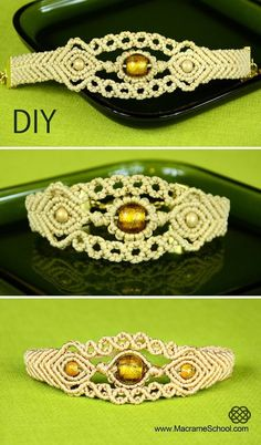 Sun in the Sea - Macrame Bracelet Tutorial « Jewelry