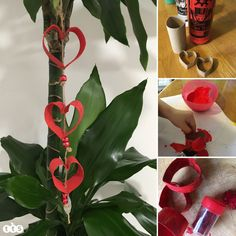Valentine's crafts for children - 6 Ideas Valentine Crafts For Kids, Valentines, Loo Roll Holders, Hearts, Children, Christmas, Blog, Gifts, Valentine's Day Diy