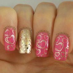 #valentines nail design #heart nails designs #jackie18g