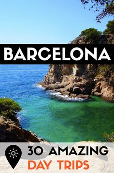 Find out 30 of the best day trips outside Barcelona to escape city life! Check out the best beaches, parks, villages and other getaways in Catalonia! Barcelona Hotels, Barcelona Travel, Barcelona Catalonia, Barcelona Beach, Barcelona Vacation, Visit Barcelona, Vacation Trips, Day Trips, Weekend Trip Packing