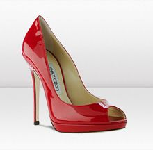 Jimmy Choo perfect peep toe, also comes in black Fab Shoes, Crazy Shoes, Me Too Shoes, Jimmy Choo, Red Heels, High Heels, Red Bottoms, Patent Leather Pumps, Peep Toe Pumps