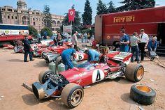 Ferrari paddock Barcellona  1972