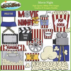 Movie Night Fun Clip Art