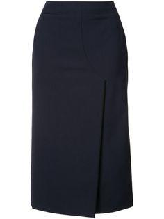 JASON WU Front Slit Midi Skirt. #jasonwu #cloth #skirt