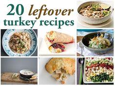 20 recipes for leftover Thansgiving turkey