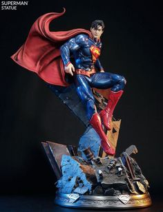 DC Comics Superman Polystone Statue by Prime 1 Studio Coleccionables Sideshow, Sideshow Collectibles, Superman News, Superman Art, Superman Figure, Action Comics 1, Dc Comics Art, 3d Art, Vader Star Wars