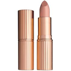 Charlotte Tilbury K.I.S.S.I.N.G Lipstick - Colour Nude Kate (€27) ❤ liked on Polyvore featuring beauty products, makeup, lip makeup, lipstick, beauty, lips, charlotte tilbury and charlotte tilbury lipstick