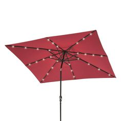 Solar LED Lighted Patio Umbrella #ad Weather Radio, Patio Umbrellas, Solar Led, Rv Living, Solar Panels, Solar Power, Canopy, Accessories, Furniture
