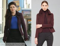 Once Upon a Time: Season 4 episode 21 Belle's purple wool jacket