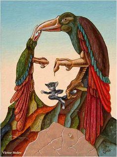 Pinturas de Victor Molev! | Artes & Humor de Mulher