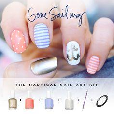 Gone Sailing Nautical Nails Nail Art Kit!