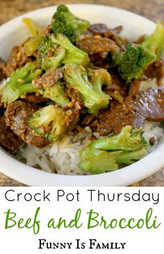 I love this Crock Pot Beef and Broccoli! #crockpotthursday #crockpot #slowcooker