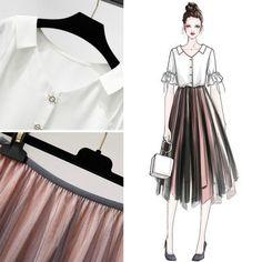 Check out this Gorgeous casual korean fashion Korean Fashion Trends, Asian Fashion, Look Fashion, Girl Fashion, Fashion Dresses, Womens Fashion, Illustration Mode, Fashion Design Sketches, Mode Hijab
