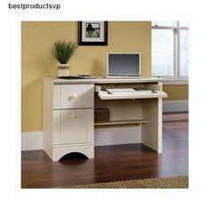 #Ebay #White #Computer #Desk #Office #Furniture #Workstation #Storage #Drawers #Writing #Student #Sauder #Traditional
