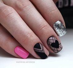 super Ideas for nails art designs diy natural Heart Nail Designs, Valentine's Day Nail Designs, Nail Swag, Red Nails, Hair And Nails, Cute Nails, Pretty Nails, New Nail Art Design, Organic Nails