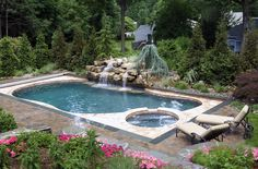 """While automatic pool covers are rectangular in design (the tracks must run parrallel in order to operate), they can be installed on freeform pools using a """"deck on deck"""" construction technique. Cover-Pools Inc. http://www.poolspaoutdoor.com/buyers-guide/pool-covers/cover-pools.aspx"""