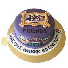 Friends Cake – The Feast Bakery 24th Birthday Cake, Friends Birthday Cake, Funny Birthday Cakes, Friends Cake, Friends Tv, Sweet 16 Cakes, Cute Cakes, Cake Tv Show, Alien Cake