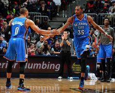 Westbrook and Durant - OKC Thunder