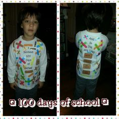 100 days of school shirt Got this idea from another pin. Love the way ours turned out!