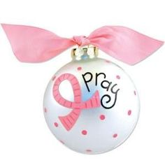 Breast cancer ornament Pray