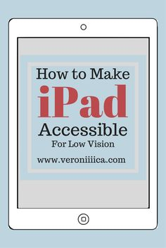 Here are settings to enable for the iPad/iPhone to help make the devices easier to use. All are found in the accessibility menu under general settings unless otherwise noted. Altogether, it t…