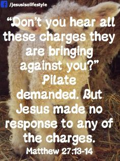 Isaiah 53:7 He was oppressed and afflicted, yet he did not open ...