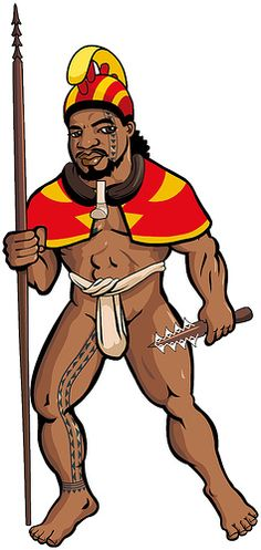 A variant on the Hawaiian warrior image, in this case with featherwork: mahiole (helmet), ahuʻula (cape), lei niho palaoa (carved sperm whale pendant) and ihe (spear) the malo (loincloth) is tied puʻali style, high waistband and no flaps to grab in hand-to-hand fighting.  na toa Hawaii alii draft 3 by Goniagnostus, via Flickr