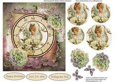 Timeless Vintage Portrait Roses Card Topper on Craftsuprint - Add To Basket!