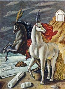 The divine horses - Giorgio de Chirico 1963