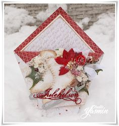 Card made with Papirdesign products for one of my christmas card classes :)
