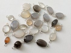 WHOLESALE 10 Pcs Multi Moonstone Plain Oval Shape by gemsforjewels