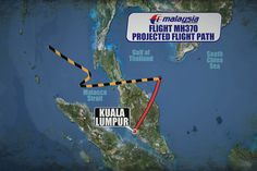 Mar 15, 2014 : An updated map showing the projected flight path for missing Malaysia Flight MH370. But why not directly west - to Somalia. Surely the obvious place.