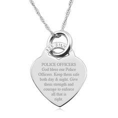 Polizisten Gebet 925 Silber Herz-Halskette von JewelryPersonalised
