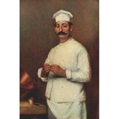 Appletons Booklovers Magazine 1903 The Chef Canvas Art - Adrian-Henri Tanoux (18 x 24)