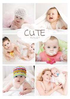 make a beautiful baby photo collage by yourself your baby will love it very much