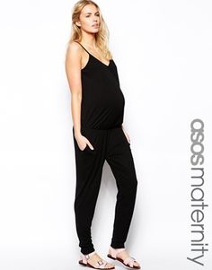 Image 1 of ASOS Maternity Cami Jumpsuit With Peg Trouser