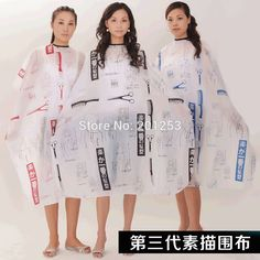 Hairdressing Hair Cutting Salon Hairstylist Nylon Gown Cape Cloth Hairdresser Barber Capes Send Color Randomely 1pcs LZN0013