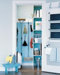 Cleaning supplies — especially brooms, mops, and vacuums — might be some of the hardest items to find a home for in your house. They are awkwardly sized and shaped, and they fall over at the slightest bump or breeze. And not to mention the fact that you don't really want your cleaning supplies on display in your home. But there are plenty of solutions that will fit just about any kitchen. Whether you have a dedicated closet with all your cleaning gear, or designate a portion of your pantry…