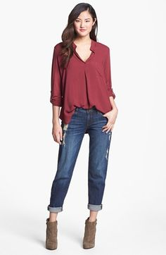 Pleione Blouse & KUT from the Kloth Jeans  available at #Nordstrom