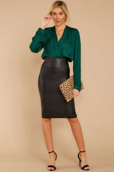 The Effective Pictures We Offer You About Pencil Skirt n Black Pencil Skirt Outfit, Satin Pencil Skirt, Black Leather Pencil Skirt, Pencil Skirt Work, Pencil Skirt Outfits, Faux Leather Skirt, Denim Pencil Skirt, High Waisted Pencil Skirt, Dress Black
