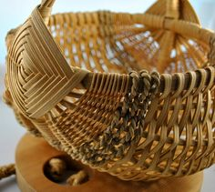 Vintage Handwoven Egg Basket by kimple674250 on Etsy,